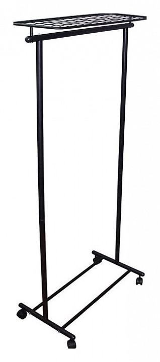 Вешалка напольная Мебелик Вешалка гардеробная М-9 черный цена и фото