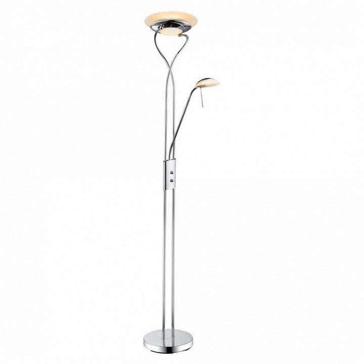 Торшер с подсветкой Arte Lamp Duetto A4399PN-2CC торшер arte lamp duetto a4399pn 2cc