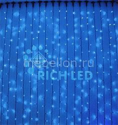 Занавес световой RichLED (2x1.5 м) RL-CS2*1.5F-T/B провод электропитания richled rl cn4 220