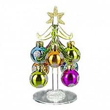 Ель новогодняя с елочными шарами (12 см) ART 594-094
