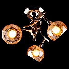Люстра на штанге Eurosvet 3353/3Н золото/коричневый 3353