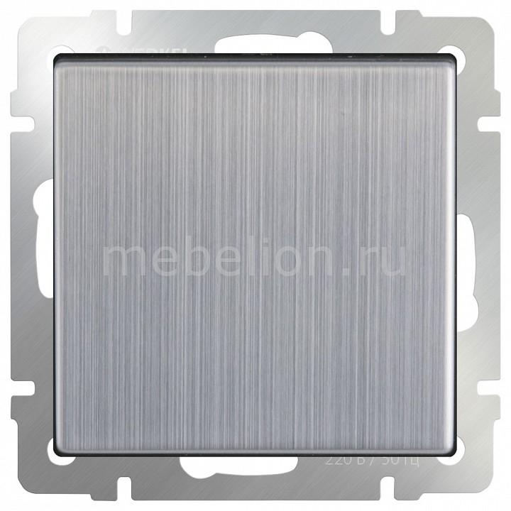 Выключатель проходной одноклавишный без рамки Werkel Глянцевый никель WL02-SW-1G-2W  цена и фото