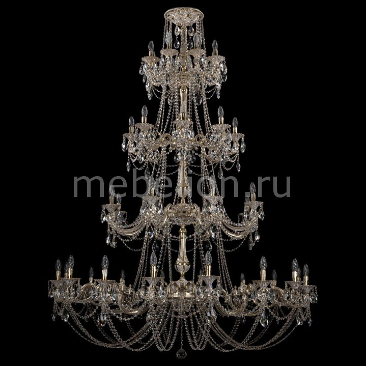 Люстра на штанге Bohemia Ivele Crystal 1702/16+8+8+8/335+265/C/GW 1702
