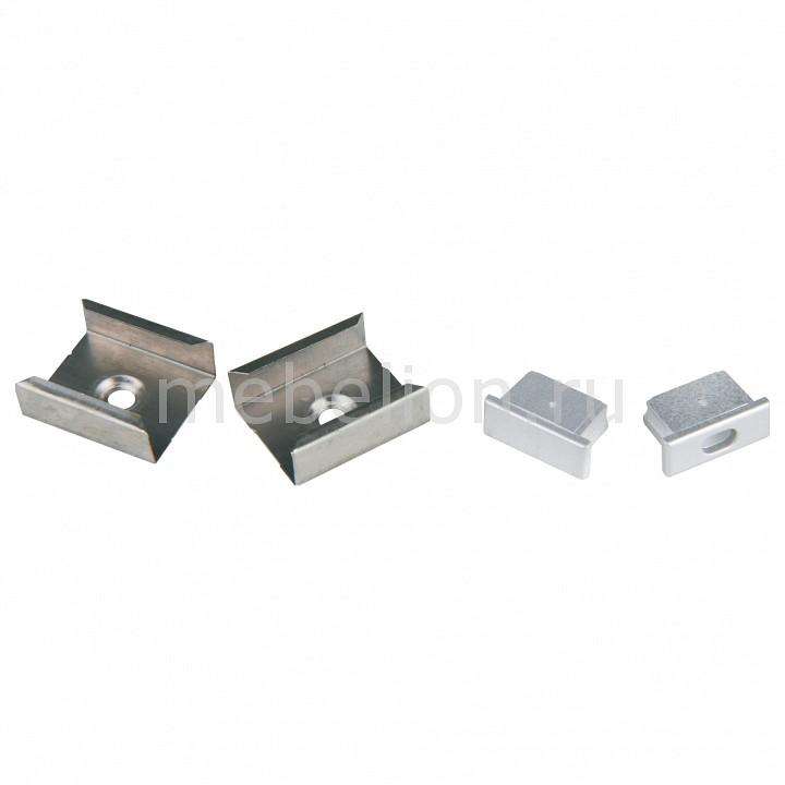 Набор заглушки и скоб для профиля Uniel UFE-N02 SILVER A POLYBAG UL-00000622 набор аксессуаров ul 00000622 uniel ufe n02 silver