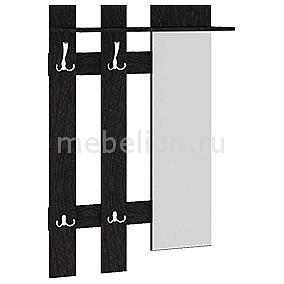 Вешалка настенная Мебель Трия Арт (мини) с зеркалом, венге цаво цена 2017