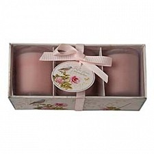 Ароматическая свеча Garda Decor Набор ароматических свечей (16.5х7 см) Роза F13-RG012
