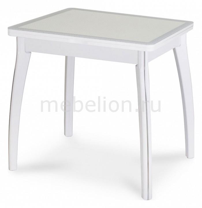 Стол обеденный Домотека Чинзано М-2 со стеклом и экокожей стол обеденный со стеклом