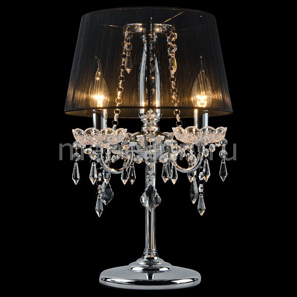 Настольная лампа Eurosvet декоративная 2045/3T хром/черный