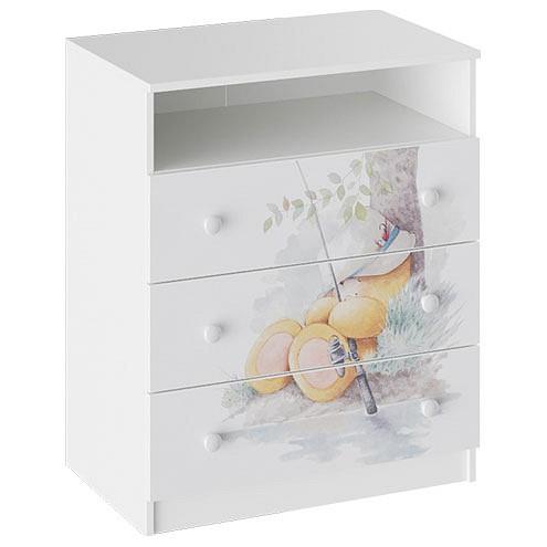 Комод Мебель Трия Тедди ТД-294.04.03 панель с полками для шкафа мебель трия лючия тд 235 07 22 01
