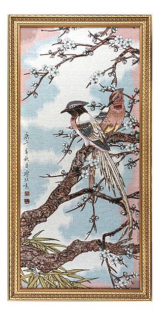 Панно (50х115 см) Райские птицы 404-643-31