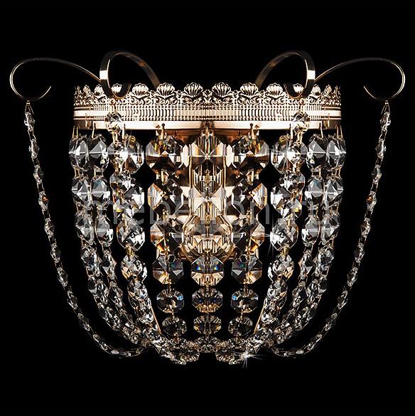 Накладной светильник Eurosvet 3109/1 золото/прозрачный хрусталь Strotskis 3109
