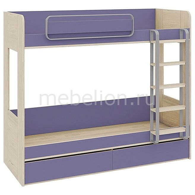 Кровать двухъярусная Аватар СМ-201.01.001 каттхилт/лаванда mebelion.ru 22990.000