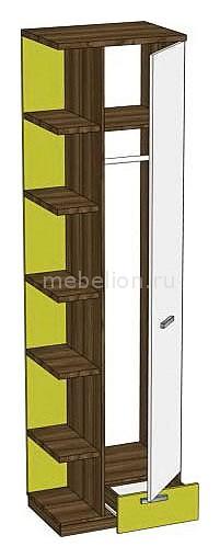 Шкаф комбинированный Модекс 505.120 ноче марино/белый/хаки