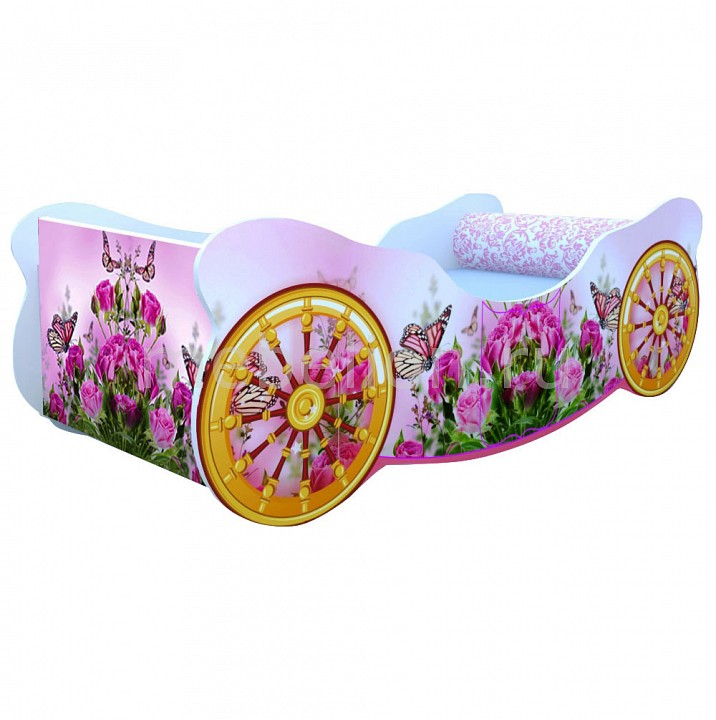 Кровать Кровати-машины Розы с бабочкой K009