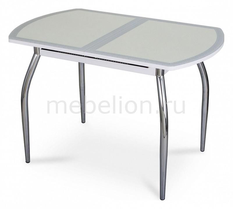 Стол обеденный Чинзано ПО со стеклом и экокожей