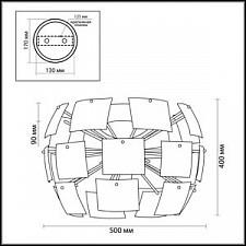 Накладной светильник Odeon Light 2655/4C Vorm