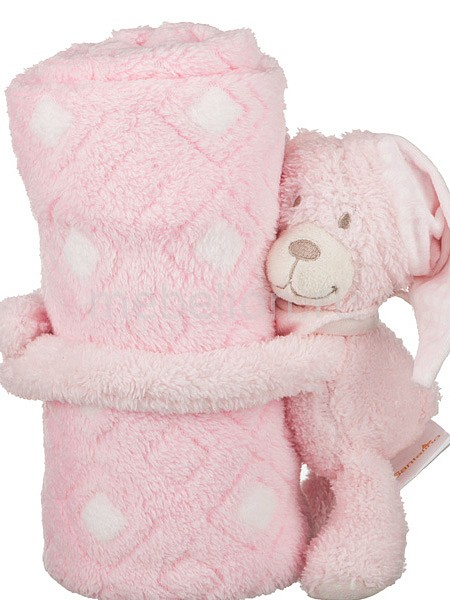 Плед детский АРТИ-М (75х100 см) Розовый мишка статуэтка арти м 37 см дама 50 029