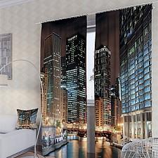 Портьера (150х260 см) 2шт. Вечерний Чикаго