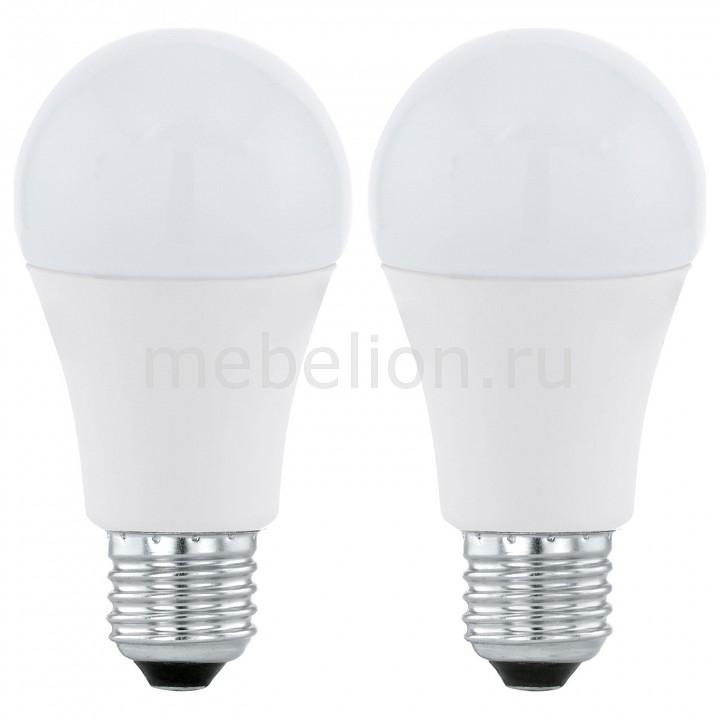 Комплект из 2 ламп светодиодных [поставляется по 10 штук] Eglo Комплект из 2 ламп светодиодных A60 Valuepack E27 60Вт 3000K 11483 [поставляется по 10 штук] комплект из 2 ламп светодиодных eglo led лампы g4 2700k 220 240в 1 2вт 11551
