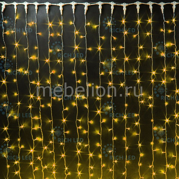 Занавес световой [2x3 м] RichLED Занавес световой (2x3 м) RL-C2*3-CW/Y гирлянда нить 10 м richled rl s10c 24v cw p