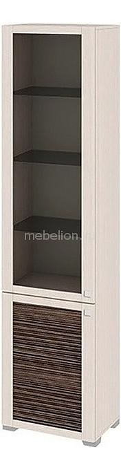 Шкаф-витрина Мебель Трия Фиджи ШК(07)_32-21_18 дуб белфорт/каналы дуба мебельтрия полка навесная фиджи св 15 дуб белфорт