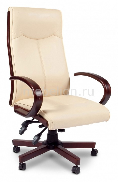 офисный стул chairman 659 terra черный матовый темный орех Кресло для руководителя Chairman Chairman 411 бежевый/орех темный