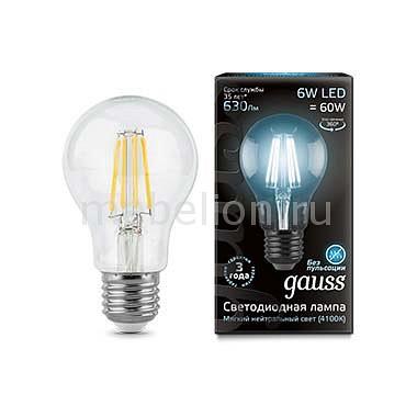 Лампа светодиодная Gauss 1028 E27 150-265В 6Вт 4100K 102802206