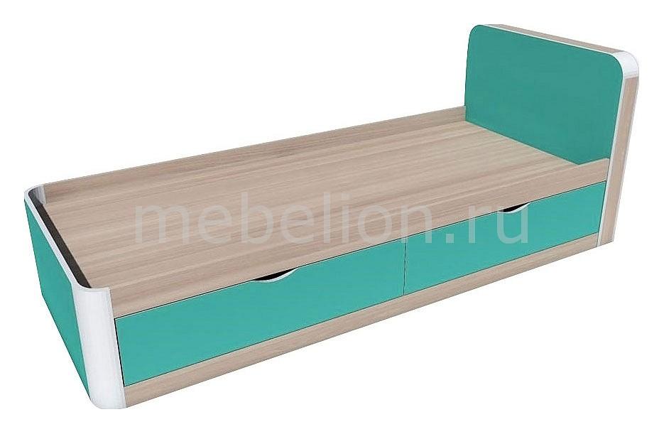 Кровать Артек НМ 014.38  тумбочка прикроватная бук