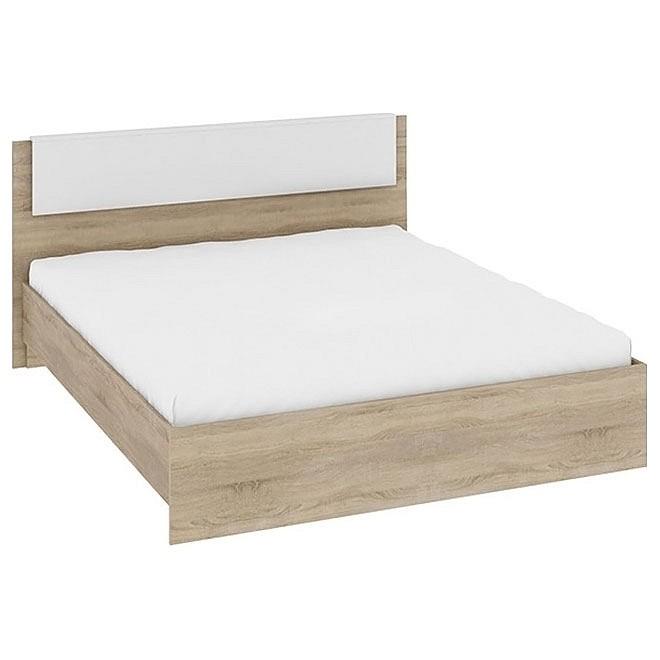 Кровать двуспальная Ларго СМ-181.01.001 дуб сонома/белый глянец