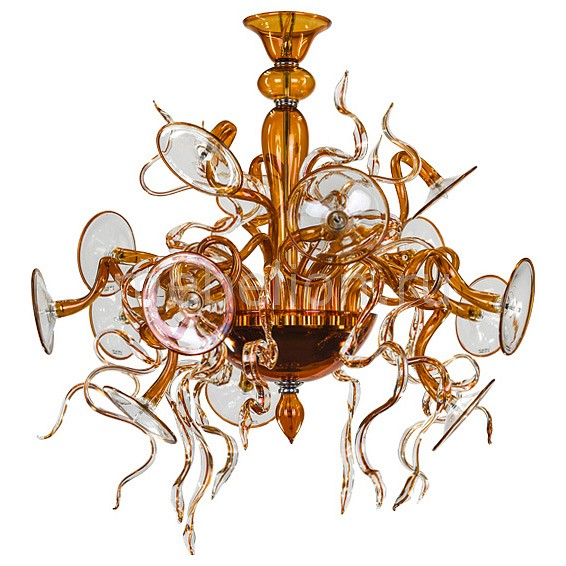 Подвесная люстра Lightstar Ricciolo 894153 коньячный набор