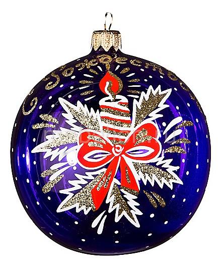 Елочный шар (9 см) С рождеством 860-272