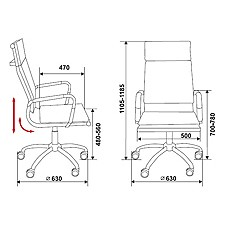 Кресло компьютерное CH-993 черное