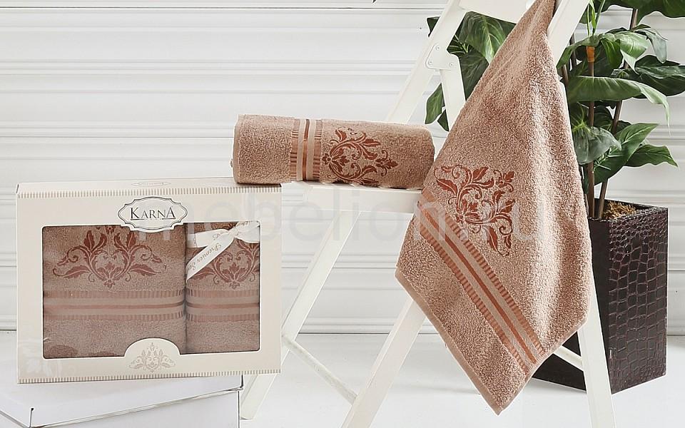 где купить  Набор полотенец для ванной Karna Набор из 2 полотенец для ванной AGRA  по лучшей цене