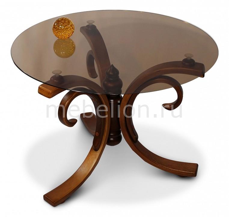 Стол журнальный Мебелик Массив Миледи шатура стол журнальный миледи тёмно коричневый