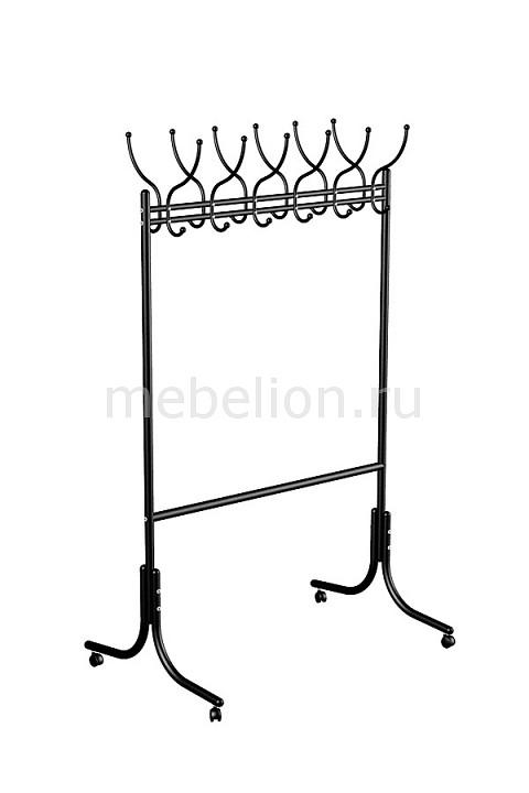 Вешалка напольная Мебелик Вешалка гардеробная М-11 черный цена и фото