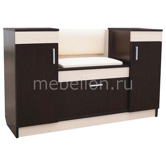 Купить Тумба для обуви Фиеста-2 венге/дуб молочный, Олимп-мебель, Россия