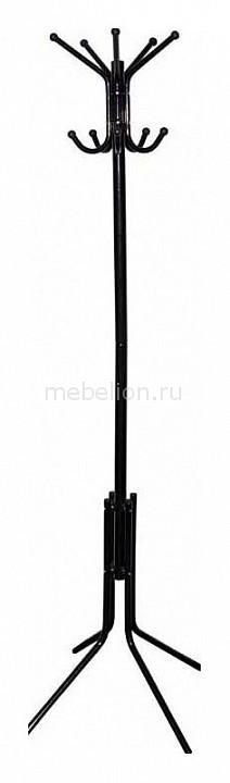 Вешалка-стойка Бюрократ CR-002 черный/металлик