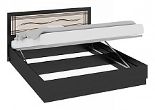 Кровать двуспальная Токио СМ-131.12.003 венге цаво/венге цаво/дуб белфорт с рисунком Линии