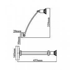 Светильник на штанге Maytoni PIC121-01-W Matiss