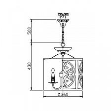 Подвесной светильник Maytoni H899-03-R Rustika