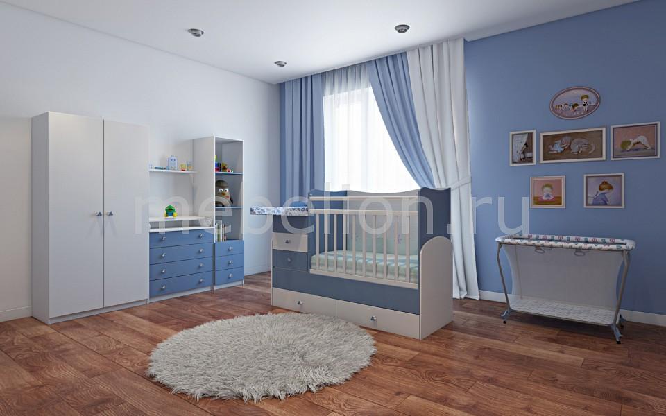 Гарнитур для детской Фея  диван кровать для девочки с ящиками