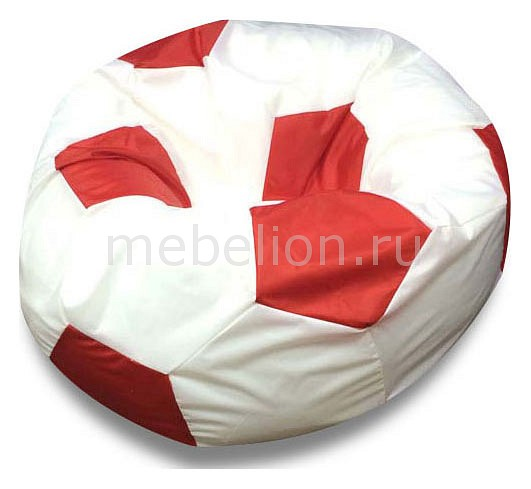 Кресло-мешок Бело-красный  пуфики ставрополь