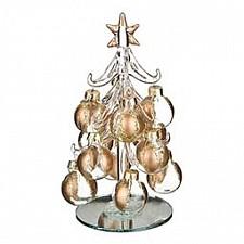 Ель новогодняя с елочными шарами (15 см) ART 594-028
