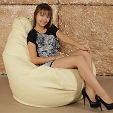 Кресло-мешок Кремовая кожа I