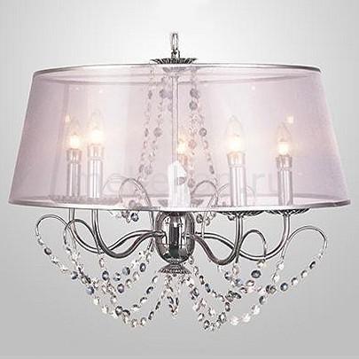 Купить Подвесной светильник 10068/5 хром/прозрачный хрусталь Strotskis, Eurosvet, Китай