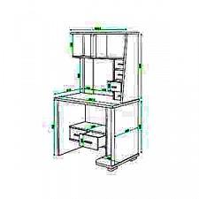 Стол компьютерный Живой дизайн СК-10