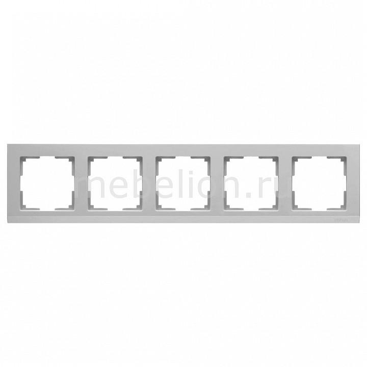 Рамка на 5 постов Werkel Stark WL04-Frame-05 werkel рамка stark на 5 постов черный werkel wl04 frame 05 silver black 4690389059353