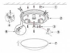 Накладной светильник Globo 40400-3 Bike