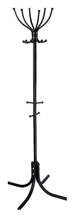 Вешалка напольная Мебелик Вешалка-стойка М-6 черный цена и фото