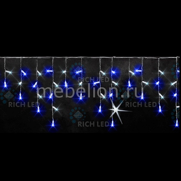 Бахрома световая (3х0.5 м) RichLED RL-i3*0.5-RW/BW бахрома световая 3х0 5 м richled rl i3 0 5f rw w